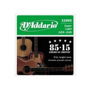 D'Addario zice za ak. gitaru .009 - .045