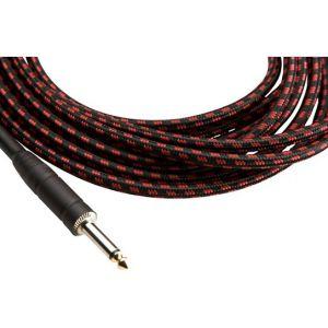 Musicians Gear Instrument kabl Tweed Bk/Rd 6m (Ts - Ts ) CL-390-20