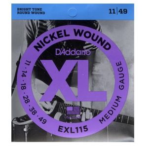 D'addario žice za električnu gitaru XL 11-49
