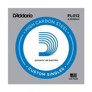 D'Addario PL012 Plain Steel...
