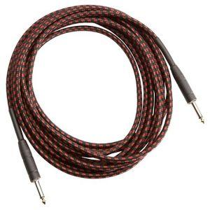 Musicians Gear Instrument kabal Tweed Bk/Rd 3m (Ts - Ts ) CL-390-10