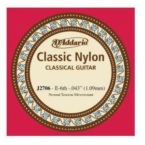 E 6. žica za klasičnu gitaru D'addario
