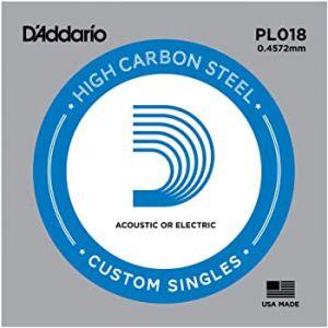 D'Addario PL018 Plain Steel...